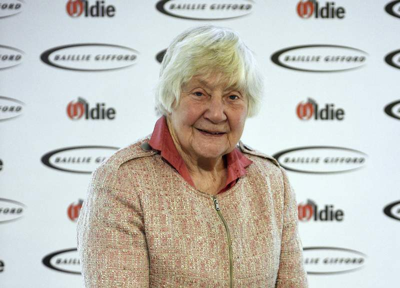 FILE - In this file photo dated Jan. 30, 2018, Shirley Williams attending The Oldie of the Year Awards, at Simpsons in the Strand, central London.  The trailblazing female lawmaker Shirley Williams who tried to reshape a British political system dominated by two big parties, died peacefully in the early hours of Monday aged 90, according to information released by her Liberal Democrats party. (Kirsty O'Connor/PA via AP)
