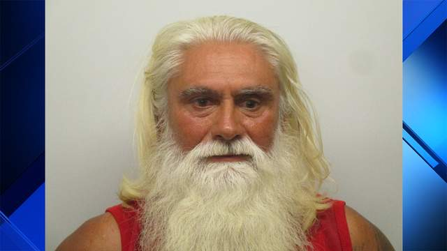 Fidel Gonzalez Gutierrez, who looks a lot like Santa Claus in this arrest photo, is accused of selling cocaine to an undercover detective.