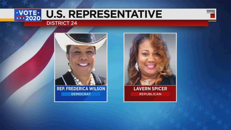 Frederica Wilson maintained a stronghold for Florida's Congressional District 24.