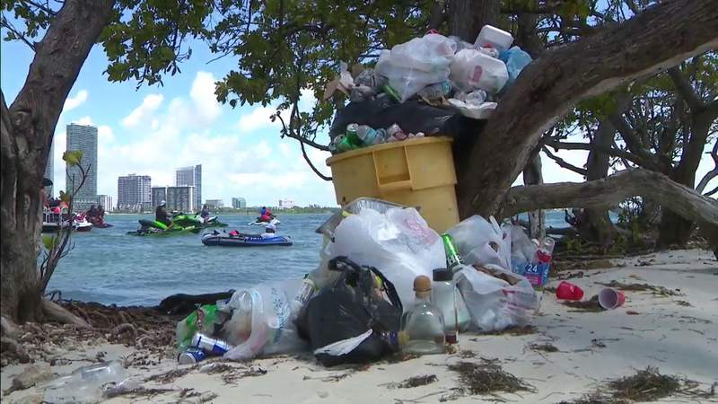 Holiday trash pileup signals an ongoing issue in Miami