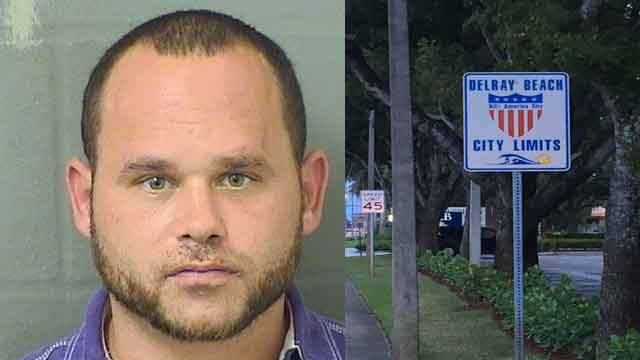 Adam Mizrach, 33, is accused of stabbing a dog multiple times in the neck at the Delray Beach home he shares with a woman.