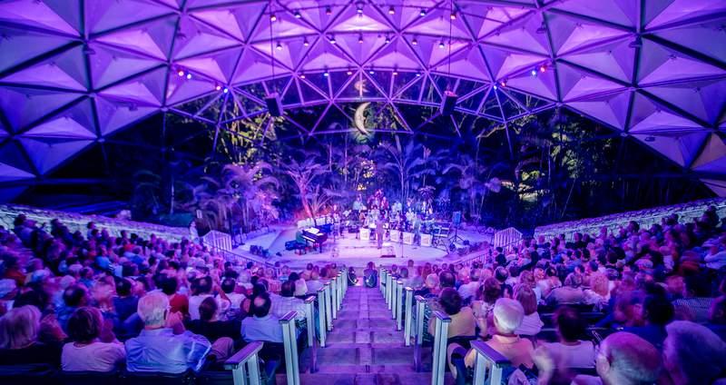 Jazz performance at Banyan Bowl in Pinecrest Gardens.