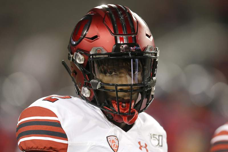 FILE - Utah defensive back Aaron Lowe (2) is shown in the first half of an NCAA college football game against Arizona, in Tucson, Ariz., in this Saturday, Nov. 23, 2019, file photo. Police arrested a man early Sunday, Oct. 3, 2021, in connection with the shooting death of Utah sophomore cornerback Aaron Lowe. Homicide detectives with the Salt Lake City Police Department located Buk M. Buk, 22, in Draper and booked him on charges of aggravated murder, attempted murder and felony discharge of a firearm. (AP Photo/Rick Scuteri, File)