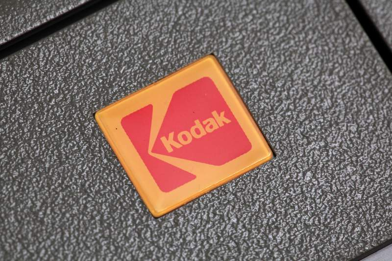 FILE - This Jan. 25, 2011 file photo shows a Kodak slide projector in Philadelphia.  Photography company Eastman Kodak is set to receive a $765 million government loan to create a new division that will help make ingredients for use in generic drugs. Kodak Pharmaceuticals will make critical pharmaceutical ingredients that have been identified as essential but have lapsed into chronic national shortage, as defined by the Food and Drug Administration.  (AP Photo/Matt Rourke, File)