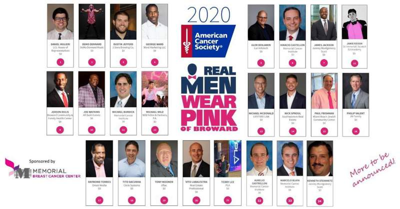 Real Men Wear Pink of Broward is part of breast cancer awareness month in October.