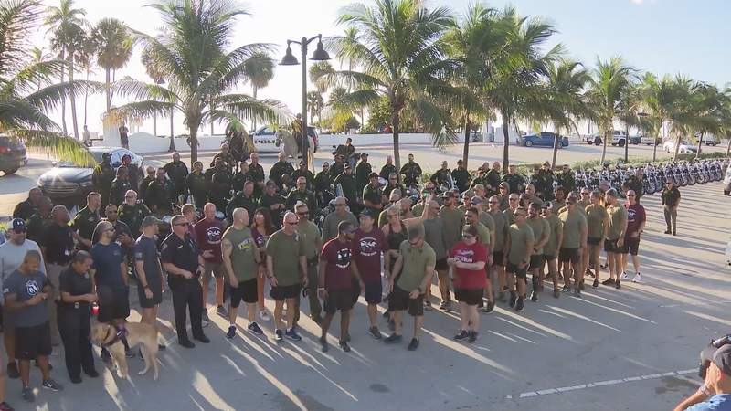 Deputies met on Wednesday morning in Fort Lauderdale to run in support of the Special Olympics.