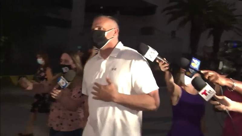 Frank Artiles is seen walking out of jail in March.