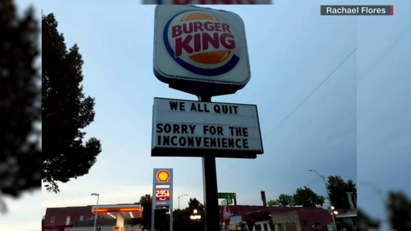 Entire staff at Burger King in Nebraska quits on sign