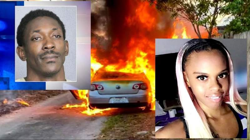 Man charged with arson but he be responsible for death of woman in burning car?