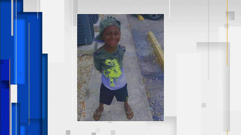 TJ Mack, 5, and his mother Stevangela Lankford suffered burns in a fire at their Miami home.
