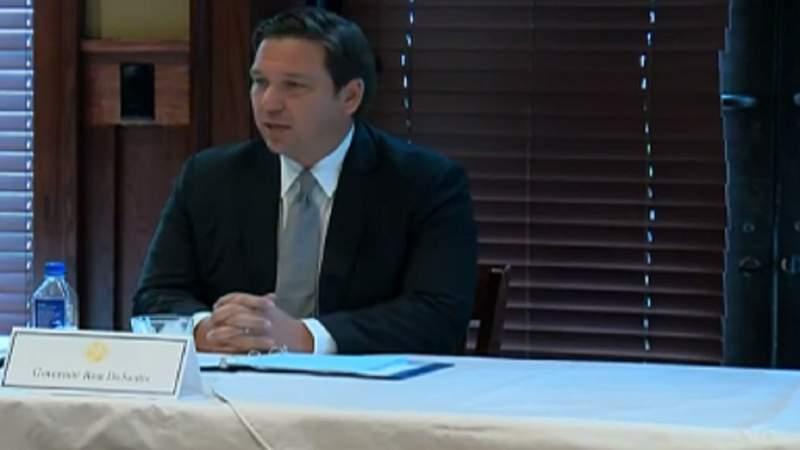 Gov. Ron DeSantis holds restaurant industry roundtable in Fort Myers.