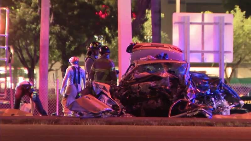 Crash killing 3, injuring 1 shuts down Okeechobee Road in Hialeah Gardens