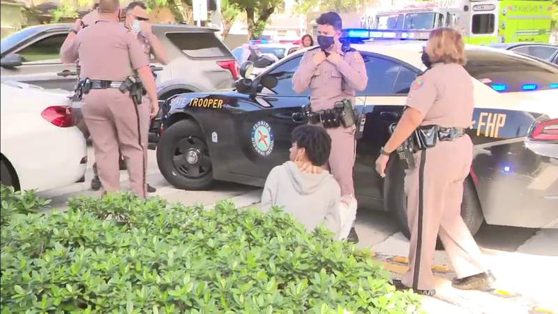 Pursuit of BMW with teenage mother asking for help ends in Brownsville, FHP reports