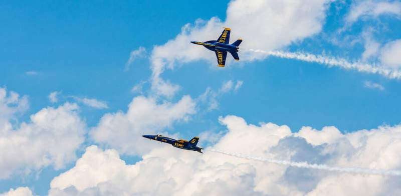 A Local 10 viewer sent this photo of the Blue Angels flying over Fort Lauderdale as part of the Air Show.