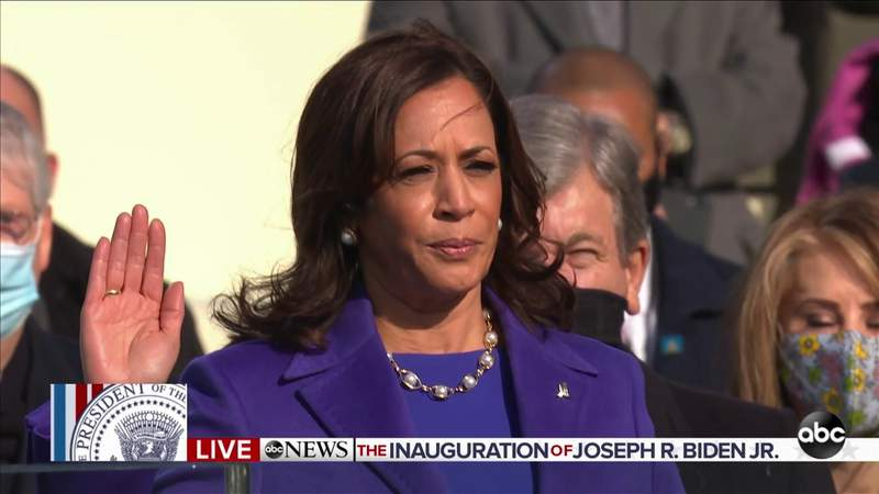 Kamala Harris sworn in as the 49th vice president of the United States