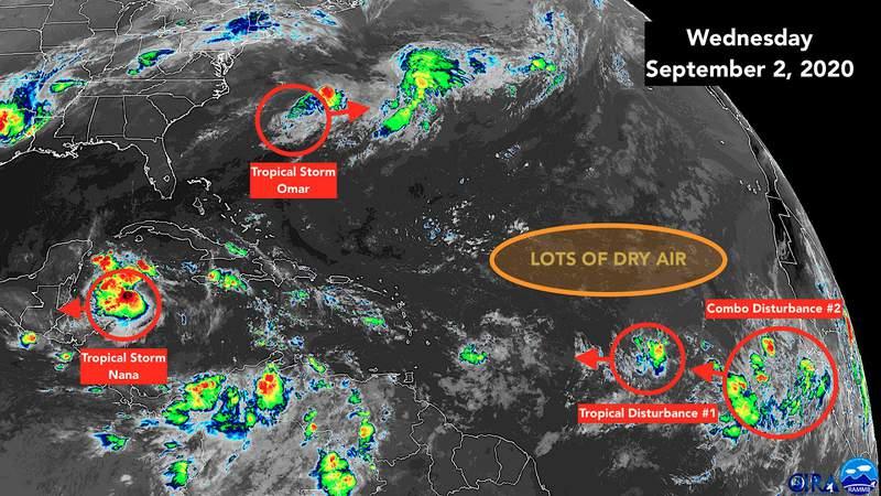 Sept. 2 satellite image of the tropics.