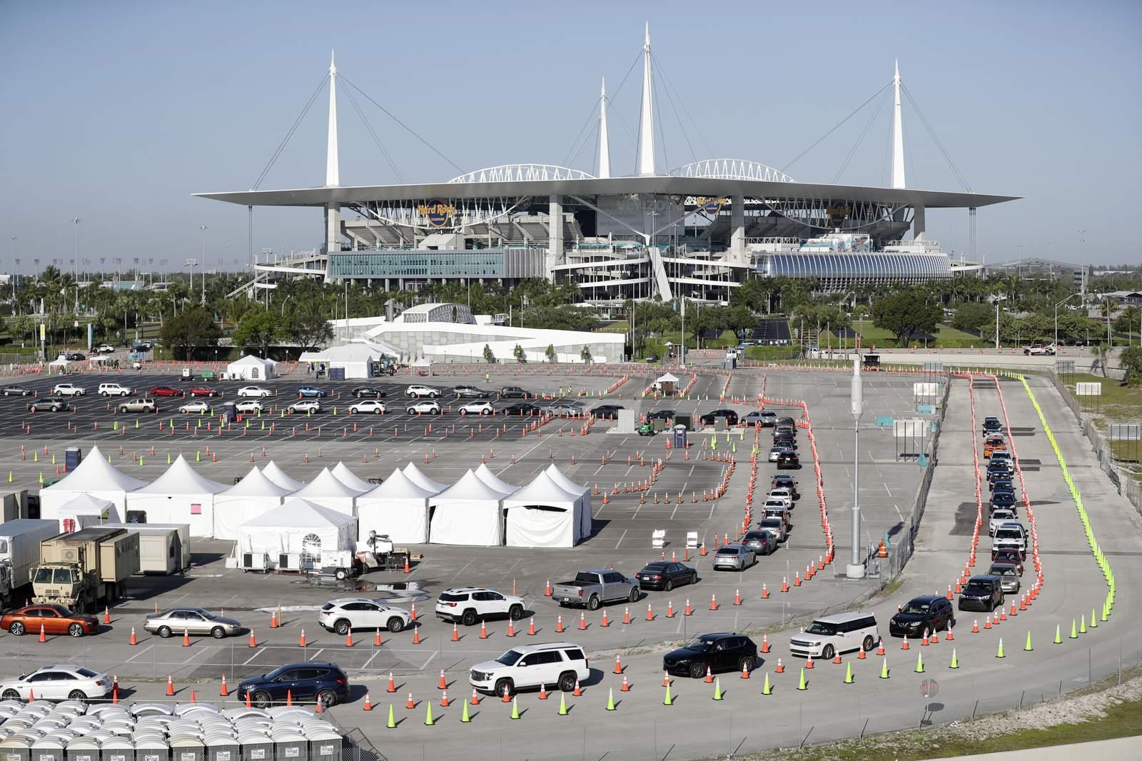 Hard Rock Stadium se convertirá en un sitio de vacunas sin cita previa, horario ampliado a partir del lunes