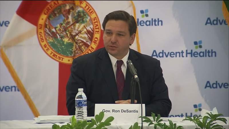 Gov. Ron DeSantis speaks at Aug. 19 news conference in Altamonte Springs.