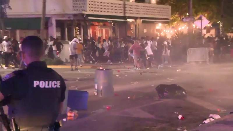 Authorities use pepper balls on South Beach crowds after new curfew passes
