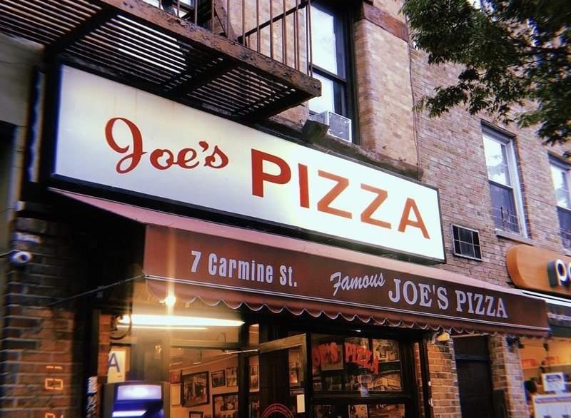 Joe's Pizza on 7 Carmine Street in New York City. Photo by Mariana Maher.